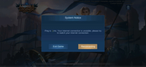 Lol... I didn't know there was a - 1ms 8I xDDD: Tihis is a work of fiction., Any names, characters, stories or events, are fictitiouS.  Current Version: 1.4.28.472.2  MOBILE  LEGENDS  BANG BANG  System Notice  Ping is -1ms. Your internet connection is unstable, please try  to switch your internet connection.  Reconnecting  Exit Game  T have read and agree to the Termms and Frivacy Policy of Moonton  Game Loading.(Error:86) Lol... I didn't know there was a - 1ms 8I xDDD