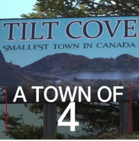 30 JUN: With only four residents, Tilt Cove is officially Canada's smallest town. The population of the town shrunk after its mining operation stopped in 1967. However, the settlement still has postal deliveries and rubbish collections. None of the four residents plan to leave it. For more on Canada: bbc.in-canada150 Canada Town Mining TiltCove Newfoundland Labrador BBCShorts BBCNews @BBCNews: TILT COVE  SMALLEST TOWN IN CANADA  A TOWN OF  IRE 30 JUN: With only four residents, Tilt Cove is officially Canada's smallest town. The population of the town shrunk after its mining operation stopped in 1967. However, the settlement still has postal deliveries and rubbish collections. None of the four residents plan to leave it. For more on Canada: bbc.in-canada150 Canada Town Mining TiltCove Newfoundland Labrador BBCShorts BBCNews @BBCNews