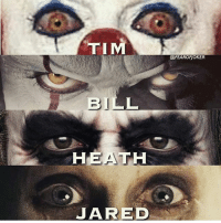 Batman, Memes, and Superman: TIM  @FEAROFJOKER  BILL  HEATH  JARED Who's your favourite clown? By @fearofjoker dc dccomics dceu dcu dcrebirth dcnation dcextendeduniverse batman superman manofsteel thedarkknight wonderwoman justiceleague cyborg aquaman martianmanhunter greenlantern theflash greenarrow suicidesquad thejoker harleyquinn