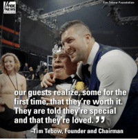 @TimTebow is hosting the fourth-annual prom night focused on showing God's love for thousands of people with special needs at locations around the world.: Tim Tebow Foundation  FOX  NEWS  ehanne  our guests realize,some for the  first time,that the re worth it,  They are told they're special  and that they're loved.  Tim Tebow, Founder and Chairman @TimTebow is hosting the fourth-annual prom night focused on showing God's love for thousands of people with special needs at locations around the world.
