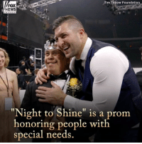 """Watch these heartwarming moments from the @timtebowfoundation's 'Night to Shine,' a worldwide celebration for people with special needs.: Tim Tebow Foundation  FOX  NEWS  """"Night to Shine"""" is a prom  honoring people with  special needs Watch these heartwarming moments from the @timtebowfoundation's 'Night to Shine,' a worldwide celebration for people with special needs."""