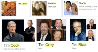 Tim Cook: Tim To  Wilson Sporting Goods  Woodland Senior High  Tim Learn  Tim How  Mole Creek  Tim Curry  Tim Rice  Tim Cook  Chief Executive Officer of Apple  Actor  Author