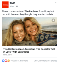 """Bailey Jay, Beautiful, and Love: TIME  4 hrs .  TIME  These contestants on The Bachelor found love, but  not with the man they thought they wanted to date.  Two Contestants on Australia's 'The Bachelor Fell  in Love-With Each Other  time.com  You and 1.8k others 200 Comments 55 Shares <p><a class=""""tumblr_blog"""" href=""""http://gravehelm.tumblr.com/post/152310648366"""" target=""""_blank"""">gravehelm</a>:</p> <blockquote> <p>This is the best plot twist ever this is so beautiful I'm gonna cry</p> </blockquote>"""