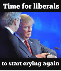 Liberals Crying: Time for liberals  to start crying again