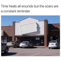 Memes, Time, and 🤖: Time heals all wounds but the scars are  a constant reminder  CASH ADVANC Who remembers