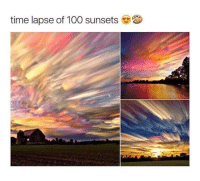 Anaconda, Memes, and Time: time lapse of 100 sunsets