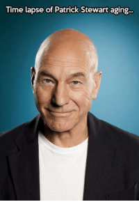 Time, Change, and Patrick Stewart: Time lapse of Patrick Stewart aging.. <p>Just Wait For The Change.</p>