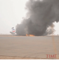 "Repost:@Time-""A passenger plane crash-landed and burned in northwestern South Sudan on Monday, but all 49 passengers and crew members survived. ""The plane touched down and then jumped up again. The pilot couldn't control it,"" the airport's acting manager told the Associated Press. ""I saw it until the very last moment before the fire engulfed the aircraft."" The door flew open when the plane crashed, he added, allowing the pilot and rescue crews to get everyone out"" 😳😩🙏 WSHH: TIME Repost:@Time-""A passenger plane crash-landed and burned in northwestern South Sudan on Monday, but all 49 passengers and crew members survived. ""The plane touched down and then jumped up again. The pilot couldn't control it,"" the airport's acting manager told the Associated Press. ""I saw it until the very last moment before the fire engulfed the aircraft."" The door flew open when the plane crashed, he added, allowing the pilot and rescue crews to get everyone out"" 😳😩🙏 WSHH"
