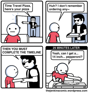 Time Travel Pizza [OC]: Time Travel Pizza [OC]