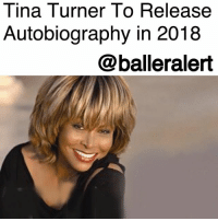"Tina Turner To Release Autobiography in 2018 – blogged by @MsJennyb ⠀⠀⠀⠀⠀⠀⠀ ⠀⠀⠀⠀⠀⠀⠀ Three decades after the release of her first autobiography, TinaTurner will release her second memoir - ""Tina Turner: My Love Story."" ⠀⠀⠀⠀⠀⠀⠀ ⠀⠀⠀⠀⠀⠀⠀ The new book, which is set to be released in October of next year, will aide in celebrating the singer's 60th anniversary in music. According to Entertainment Weekly, the Atria Books announced the new release on Monday, adding that it will focus on Turner's life after Ike Turner, as she struggles to find love and survive a ""life-threatening illness."" ⠀⠀⠀⠀⠀⠀⠀ ⠀⠀⠀⠀⠀⠀⠀ The new novel is said to be a sequel to Turner's previous memoir, ""I, Tina,"" which was turned into the popular film, ""What's Love Got to Do With It,"" starring AngelaBassett. That book and film focused on the abusive relationship between her and her late husband, IkeTurner. Although the two were successful together, Ike's history of violence against her led to their separation and subsequent divorce in 1978. Since then though, Turner went on to find solo success in music and film. ⠀⠀⠀⠀⠀⠀⠀ ⠀⠀⠀⠀⠀⠀⠀ Turner, otherwise known as The Queen of Rock 'n' Roll, is one of the world's best selling artists of all time, deemed the most successful female Rock 'n' Roll artist. Now, with the release of her new book, Turner will be looking to match the success of ""I, Tina"" which was a worldwide best-seller.: Tina Turner To Release  Autobiography in 2018  @balleralert Tina Turner To Release Autobiography in 2018 – blogged by @MsJennyb ⠀⠀⠀⠀⠀⠀⠀ ⠀⠀⠀⠀⠀⠀⠀ Three decades after the release of her first autobiography, TinaTurner will release her second memoir - ""Tina Turner: My Love Story."" ⠀⠀⠀⠀⠀⠀⠀ ⠀⠀⠀⠀⠀⠀⠀ The new book, which is set to be released in October of next year, will aide in celebrating the singer's 60th anniversary in music. According to Entertainment Weekly, the Atria Books announced the new release on Monday, adding that it will focus on Turner's life after Ike Turner, as she struggles to find love and survive a ""life-threatening illness."" ⠀⠀⠀⠀⠀⠀⠀ ⠀⠀⠀⠀⠀⠀⠀ The new novel is said to be a sequel to Turner's previous memoir, ""I, Tina,"" which was turned into the popular film, ""What's Love Got to Do With It,"" starring AngelaBassett. That book and film focused on the abusive relationship between her and her late husband, IkeTurner. Although the two were successful together, Ike's history of violence against her led to their separation and subsequent divorce in 1978. Since then though, Turner went on to find solo success in music and film. ⠀⠀⠀⠀⠀⠀⠀ ⠀⠀⠀⠀⠀⠀⠀ Turner, otherwise known as The Queen of Rock 'n' Roll, is one of the world's best selling artists of all time, deemed the most successful female Rock 'n' Roll artist. Now, with the release of her new book, Turner will be looking to match the success of ""I, Tina"" which was a worldwide best-seller."