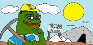 Help, Record, and Today: *tink tink  *tink tink*  TRUMCO  SALTMINE Pepe is up and at the salt mine ready for a record harvest today. There is said to be so much salt that Pepe won't be able to mine it all on his own. Will you help Pepe?