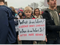 """Memes, George Orwell, and 🤖: TINLs JUST  ANT TO HAN  nAMENT  at do we Want  EVIDENCE BASED SCIENCE  en do we Want lt  AFTER PEER REVIEW """"The Party told you to reject all evidence of your eyes and ears. It was their final, most essential command.""""  George Orwell, 1984"""