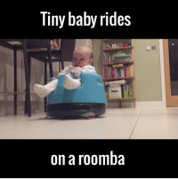 I can't stop laughing at this oblivious baby riding a roomba 😂😂😂: Tiny baby rides  on a roomba I can't stop laughing at this oblivious baby riding a roomba 😂😂😂