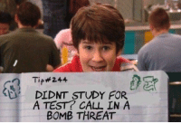 """Http, Test, and Invest: Tip#244  DIDNT STUDY FOR  A TEST? CALL N A  BOMB THREAT <p>Spotted on r/dankmemes. Invest or not? via /r/MemeEconomy <a href=""""http://ift.tt/2CGcVhY"""">http://ift.tt/2CGcVhY</a></p>"""