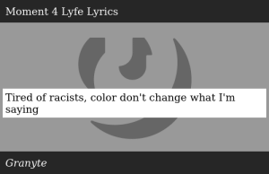SIZZLE: Tired of racists, color don't change what I'm saying