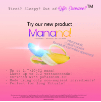 "Reddit, Delta, and Potassium: Tired? Sleepy? Out of Lie Essence?  Try our new product  Manan  Disclaimer factorial not included  Carbon-based  Foodstuffs Committee approved  Up to 2.7x10A21 mana!  Lasts up to 0.2 yottaseconds!  Made using only non- sapient ingredients!  Perfect for long Rituals!  - Enriched with potassium- 40!  Warning: may contain trace amounts of vegetal, orang, or other non-edible ingredients. The product may occasionally shift into the 23rd factorial dimension; this is normal.  If the produtct shows signs of, or attempts to, start a conversation, proceed to seek the nearset Delta-3 class shelter and alert Him.  Do not look at the sky when said event happens. Face away from mirrors and other reflective surfaces. Do not answer calls. Do not attempt to observe the event.  Batteries not included <p>[<a href=""https://www.reddit.com/r/surrealmemes/comments/8l10ps/mmmmm_tasty/"">Src</a>]</p>"