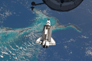 Nasa, Tumblr, and Atlantis: tis  1. photos-of-space:  Atlantis over the Bahamas prior to a perfect docking with the International Space Station on July 2011. Photo #16 by NASA [4288 × 2848]