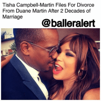 "Tisha Campbell-Martin Files For Divorce From Duane Martin After 2 Decades of Marriage - blogged by @MsJennyb ⠀⠀⠀⠀⠀⠀⠀ ⠀⠀⠀⠀⠀⠀⠀ As ""Martin"" star TishaCampbellMartin gears up to reunite with her Detroit-bred boo, the insane Martin Payne, the actress has decided to call it quits in her real-life marriage to fellow actor, DuaneMartin. ⠀⠀⠀⠀⠀⠀⠀ ⠀⠀⠀⠀⠀⠀⠀ According to PEOPLE, the actress shared the news on Thursday via her rep, revealing that after more than two decades of marriage, and two sons together, Campbell-Martin has filed for divorce. ⠀⠀⠀⠀⠀⠀⠀ ⠀⠀⠀⠀⠀⠀⠀ ""After 27 years of being together and two amazing children, it pains me to announce that I've filed for divorce,"" the actress said in a statement. ""It's an emotional time and I graciously ask for privacy for me, our children and the rest of our family."" ⠀⠀⠀⠀⠀⠀⠀ ⠀⠀⠀⠀⠀⠀⠀ The couple wed back in 1996, and have welcomed two children since then.: Tisha Campbell-Martin Files For Divorce  From Duane Martin After 2 Decades of  Marriage  @balleralert Tisha Campbell-Martin Files For Divorce From Duane Martin After 2 Decades of Marriage - blogged by @MsJennyb ⠀⠀⠀⠀⠀⠀⠀ ⠀⠀⠀⠀⠀⠀⠀ As ""Martin"" star TishaCampbellMartin gears up to reunite with her Detroit-bred boo, the insane Martin Payne, the actress has decided to call it quits in her real-life marriage to fellow actor, DuaneMartin. ⠀⠀⠀⠀⠀⠀⠀ ⠀⠀⠀⠀⠀⠀⠀ According to PEOPLE, the actress shared the news on Thursday via her rep, revealing that after more than two decades of marriage, and two sons together, Campbell-Martin has filed for divorce. ⠀⠀⠀⠀⠀⠀⠀ ⠀⠀⠀⠀⠀⠀⠀ ""After 27 years of being together and two amazing children, it pains me to announce that I've filed for divorce,"" the actress said in a statement. ""It's an emotional time and I graciously ask for privacy for me, our children and the rest of our family."" ⠀⠀⠀⠀⠀⠀⠀ ⠀⠀⠀⠀⠀⠀⠀ The couple wed back in 1996, and have welcomed two children since then."
