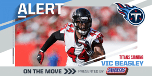 Titans signing pass-rusher Vic Beasley to a one-year deal worth up to $12M. (via @RapSheet)  (by @SNICKERS) https://t.co/oejxAI2Hzz: Titans signing pass-rusher Vic Beasley to a one-year deal worth up to $12M. (via @RapSheet)  (by @SNICKERS) https://t.co/oejxAI2Hzz