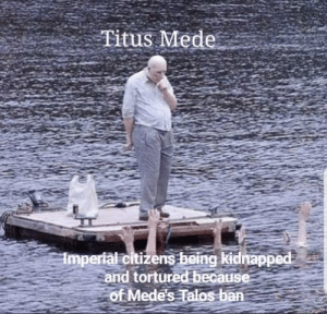 White, Been, and Idea: Titus Mede  Impertal citizenss being kidnapped  and tortured because  of Mede's Talos ban Mede offered the terms of the White Gold Concordat. The Talos ban may have been a Thalmor idea but Mede implemented it.