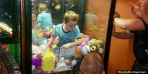 Fire, Life, and China: Titusville Fire Department In May 2017, there was online outrage after an amusement park in China opened a new claw machine which lets players have a chance to scoop up a real life child.