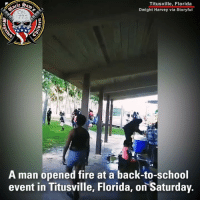 A gun in the hands of a good person is better than a cop on a phone and this story right here proves it. Many more could had lost their lives. ⠀⠀⠀⠀⠀⠀⠀⠀⠀ An armed bystander was able to stop a gunman who opened fire at a back-to-school event attended by over 100 people in Florida. Why is this not in every channel like they do for gun control? How come the hero's face isn't everywhere? I have a feeling that this was a false flag prevented by a law abiding gun owner.: Titusville, Florida  Dwight Harvey via Storyful  1775  A man opened fire at a back-to-school  event in Titusville, Florida, on Saturday A gun in the hands of a good person is better than a cop on a phone and this story right here proves it. Many more could had lost their lives. ⠀⠀⠀⠀⠀⠀⠀⠀⠀ An armed bystander was able to stop a gunman who opened fire at a back-to-school event attended by over 100 people in Florida. Why is this not in every channel like they do for gun control? How come the hero's face isn't everywhere? I have a feeling that this was a false flag prevented by a law abiding gun owner.