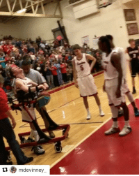 Sports, A Game, and Player: tl mdevinney All the feels. High school player with cerebral palsy makes assist in a game 👏 (via @mdevinney_, h-t @houseofhighlights)