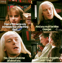- Date: 23-11-16 FC: 101k --- I seriously need to up my posting game, sorry guys --- Q- do you like Draco? --- HarryPotter TheChamberOfSecrets: TLOAWI IIG  Fearofthenameonly  increases fearofthething  itself  Yes, Draco's toldme  all about you.  And youm  Granger.  our parents, muggles  arentthey? - Date: 23-11-16 FC: 101k --- I seriously need to up my posting game, sorry guys --- Q- do you like Draco? --- HarryPotter TheChamberOfSecrets