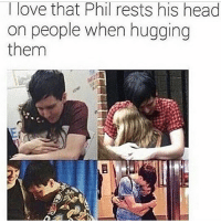 Tlove that Phil rests his head  on people when hugging  them I really want a Phil Lester hug. :( • • • amazingphil amazingdan danisnotonfire danandphil philisnotonfire youtube youtuber internet philiplester phillester philly danny danielhowell phan phanaccount danhowell tabinof tatinof tatinofdocumentary dapgo dapgoose dapgooselondon dapgoosetour themostfuniveeverhad 2009phan 2016phan phandom fff followforfollow