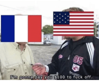 The Louisiana Purchase (1803 Colourized): T'm gonna pay you $100 to fuck off. The Louisiana Purchase (1803 Colourized)