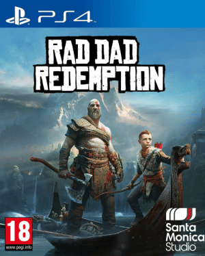 What idiot called it God of War and not: TM  RAD DAD  REDEMPTION  TM  18  Santa  Monica  Studio  www.pegi.info What idiot called it God of War and not