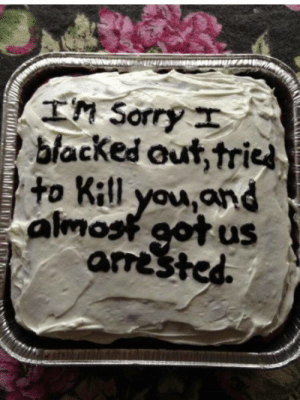 Sorry, Blacked, and You: TM Sorry  blacked out,tried  to Kitl you,and  uS  amested.  alma