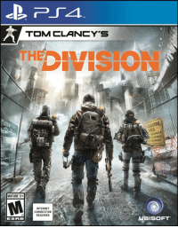Internet, The Division, and Division: TM  TOMCLANCY'S  ARANTINE  AREA  OR REMOVAL  BY CHECKPOINT  EARED PERSONS ONLY  MATURE 17+  INTERNET  CONNECTION  REQUIRED  ESRB  HBISOFT The Division