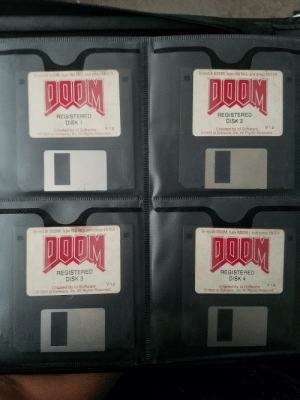Dug up some fossils: TMII  To install Do0M, type INSTALL and press ENTER  stal 00M, type INSTALL and press tNTER  REGISTERED  DISK 1  REGISTERED  DISK 2  V 1.2  V1.2  Created by id Software  Created by id Software  1993 id Software, Inc. All Rights Reserved  郊3  Sotware, Inc All Rights Reserved  To install D00M、type INSTALL and press ENTER  To install DOOM, type INSTALL and press ENTER  REGISTERED  DISK 3  Created by id Software  REGISTERED  DISK 4  Created by id Software  V1.2  V1.2  ©1993 id Software. Inc. All Rights Reserved  ©1993 id Software, Inc. All Rights Reserved Dug up some fossils
