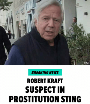 New England Patriots owner Robert Kraft has been named by police as a person involved in a recent prostitution, human trafficking sting operation in Jupiter, Florida. Multiple law enforcement agencies were involved in the operation including Homeland Security, the IRS, the Jupiter P.D., Palm Beach Sheriff's Office and more. Read more at TMZ. nfl patriots robertkraft tmz tmzsports: TMZ  BREAKING NEWS  ROBERT KRAFT  SUSPECT IN  PROSTITUTION STING New England Patriots owner Robert Kraft has been named by police as a person involved in a recent prostitution, human trafficking sting operation in Jupiter, Florida. Multiple law enforcement agencies were involved in the operation including Homeland Security, the IRS, the Jupiter P.D., Palm Beach Sheriff's Office and more. Read more at TMZ. nfl patriots robertkraft tmz tmzsports