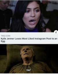 TMZ.COM  Kylie Jenner Loses Most Liked Instagram Post to an  Egg  Egg?