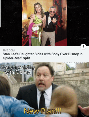 Hit em with the Uno reverse! by _burtmacklin44_ MORE MEMES: TMZ.COM  Stan Lee's Daughter Sides with Sony Over Disney in  Spider-Man' Split  Everyone siding  with Disneye  New Plan!!! Hit em with the Uno reverse! by _burtmacklin44_ MORE MEMES