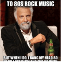 To 80S ROCK MUSIC BUT WHEN IDO IBANG MY HEAD SO | 80s Meme on ME ME