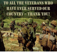 Memes, Thank You, and All The: TO ALL THE VETERANS WHO  HAVE EVER SERVED OUR  COUNTRY THANK YOU! Thank you!