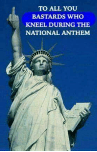 Memes, National Anthem, and 🤖: TO ALL YOU  BASTARDS WHO  KNEEL DURING THE  NATIONAL ANTHEM ~ Viper