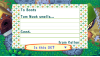 "Target, Tumblr, and Blog: To Boots  Tom Nook smells  Good.  from Kellen  Is this OK? <p><a href=""http://notecrossing.tumblr.com/post/174033532067/i-dont-have-the-heart-to-insult-him"" class=""tumblr_blog"" target=""_blank"">notecrossing</a>:</p><blockquote><blockquote><p><small>I don't have the heart to insult him</small></p></blockquote></blockquote>"