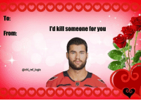 "Logic, Memes, and Valentine's Day: TO:  'd kill someone for you  @nhlL ref_logic Tom Wilson wishes you a ""safe"" Valentine's Day ❤️"