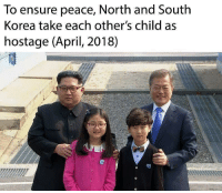 """Tumblr, Blog, and Ensure: To ensure peace, North and South  Korea take each other's child as  hostage (April, 2018) <p><a href=""""http://memehumor.net/post/173450004210/does-this-count-as-an-impasse"""" class=""""tumblr_blog"""">memehumor</a>:</p>  <blockquote><p>Does this count as an impasse?</p></blockquote>"""