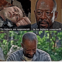 Do you feel bad for Morgan?😪 TWD TheWalkingDead Morgan Benjamin Duane: To injure an opponent  is to injure yourself. Do you feel bad for Morgan?😪 TWD TheWalkingDead Morgan Benjamin Duane