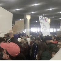 Memes, 🤖, and Executive Order: to  intent Protestors of PresidentTrump's executive order on immigration gather at Philadelphia International Airport! 👀 @MICHAELYSOO WSHH