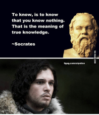 9gag, Memes, and Knowledge: To know  is to know  that you know nothing.  That is the meaning of  true knowledge.  Socrates  9gag.com/u/rpolice
