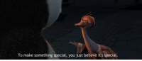 Memes, Panda, and Kung Fu Panda: To make something special, you just believe it's special. Kung Fu Panda (2008)