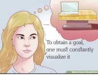 Goal, How To, and Image: To obtain a goal,  one must constantly  visualize it  wiki  How to Keep a Straight Face WikiHow Image Macros