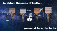 [Src]: to obtain the cube of truth  F fun fact #287  WTF fun fact do  WT F fun fact #5251  F fun fact 348  When applying mascara on their  eyes, more than one out of every  four women open their mouths  whille doing so!  ome at me bro  Dancing  If you touch your tongue while yawning  t can stop the yawn.  The ability to solve complex math  problems is a trait you are bom with  not born with)  ti-fun-facts  u wot m8?  fight me  you must face the facts [Src]