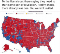 And drops the mic. 🎤⤵️ Trumplicans PresidentTrump MAGA TrumpTrain AmericaFirst: To the liberals out there saying they need to  start some sort of revolution. Reality check,  there already was one. You weren't invited.  Donald Trumo  NorenaAls And drops the mic. 🎤⤵️ Trumplicans PresidentTrump MAGA TrumpTrain AmericaFirst